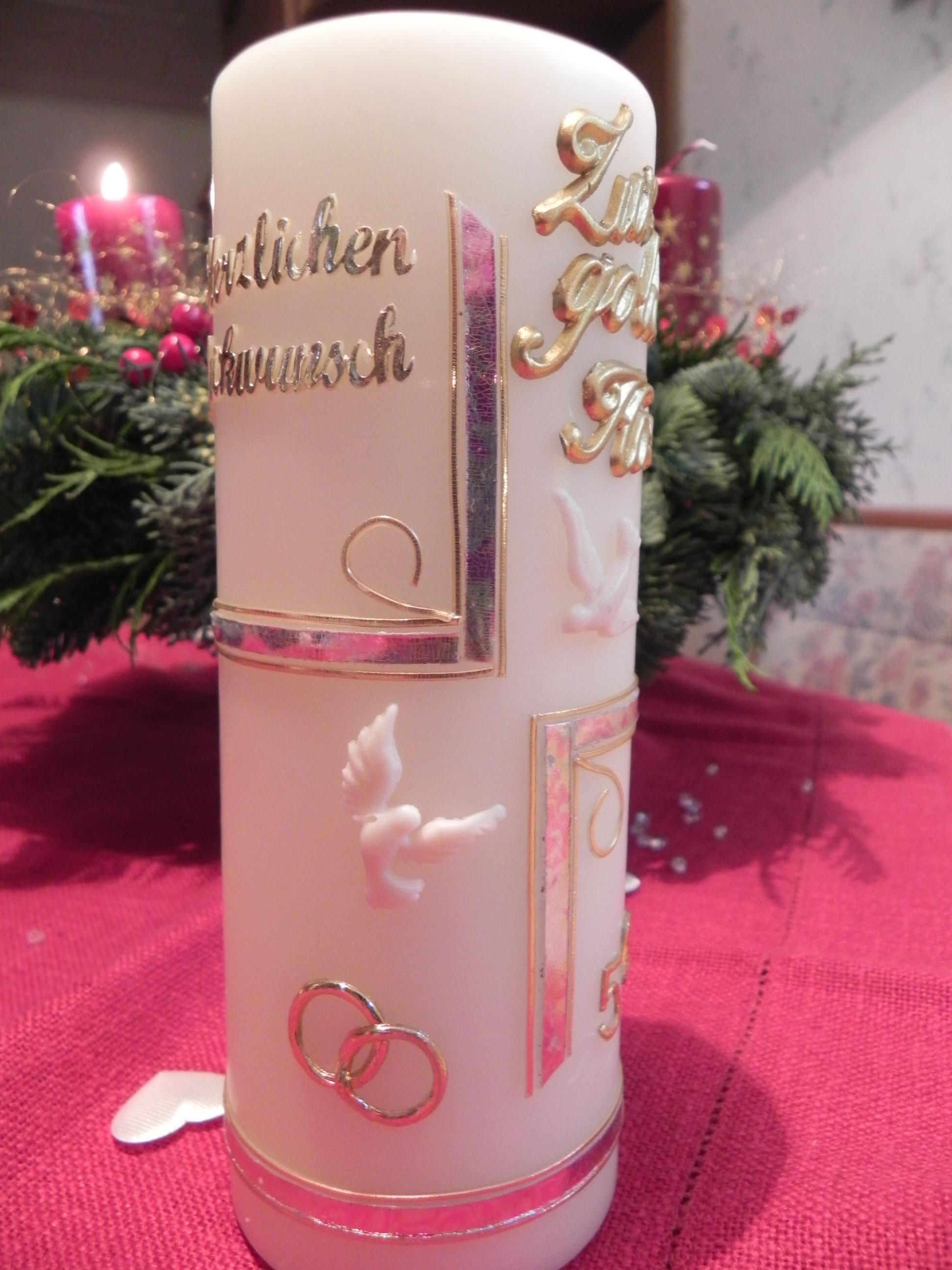 Deko Menükarten Tischdekoration Kerzen Dscn1076