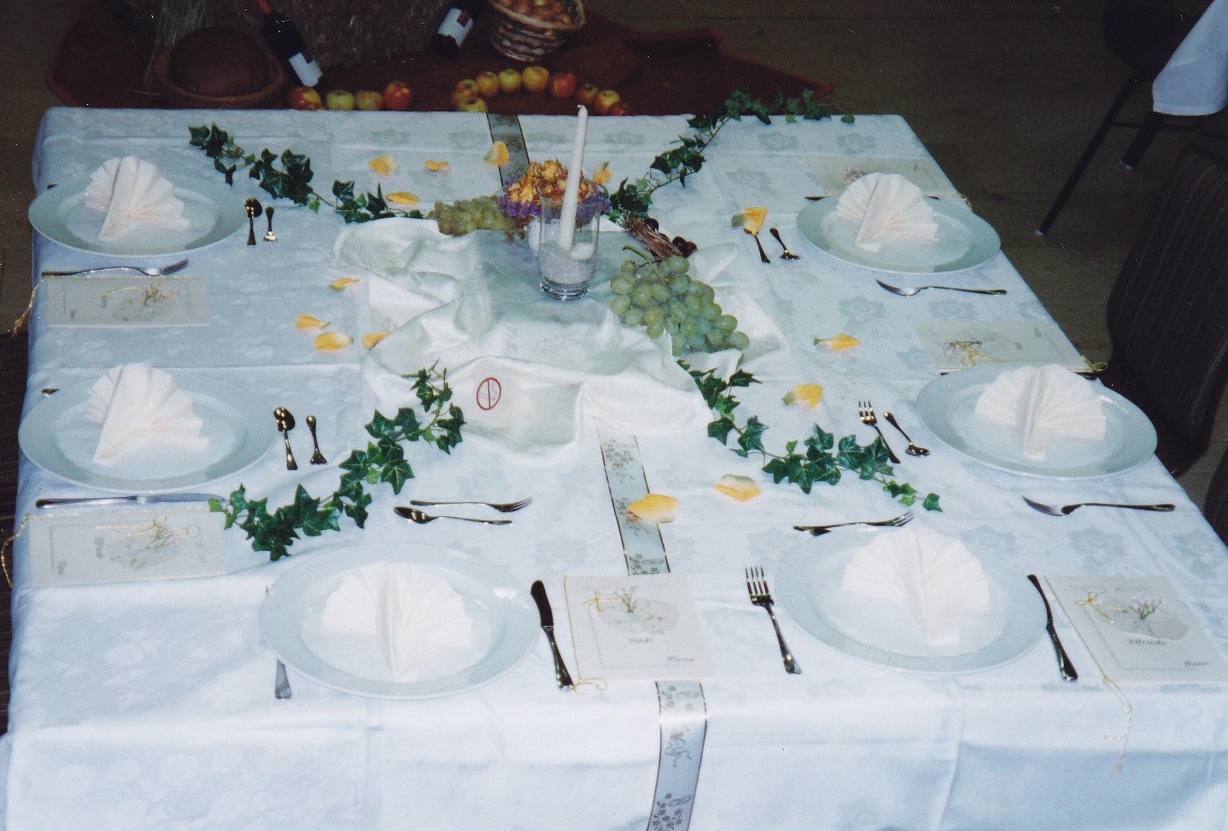Deko Menukarten Tischdekoration Kerzen Festtisch